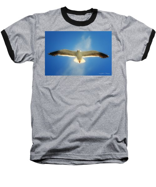Portrait Of A Seagull Baseball T-Shirt by John A Rodriguez