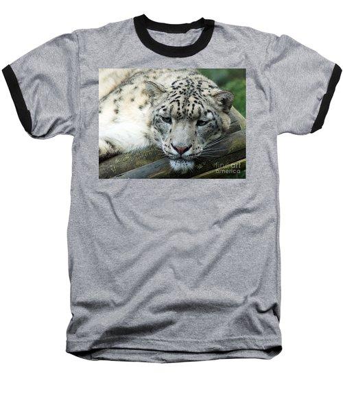 Portrait Of A Snow Leopard Baseball T-Shirt
