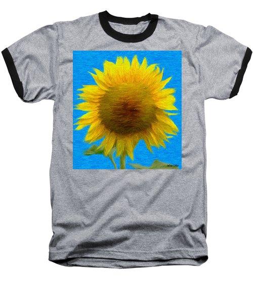 Portrait Of A Sunflower Baseball T-Shirt