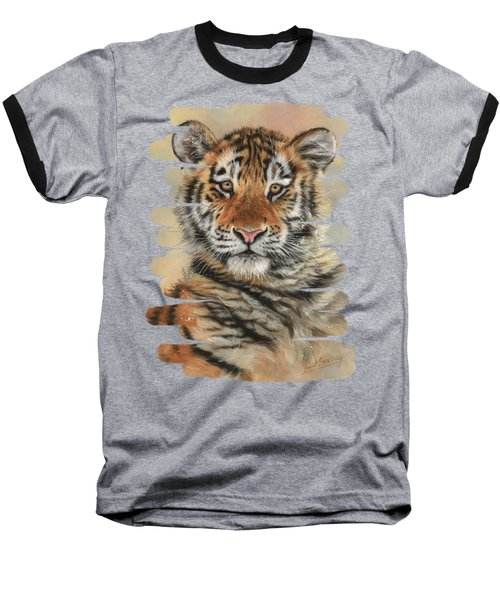 Portrait Of A Tiger Cub Baseball T-Shirt
