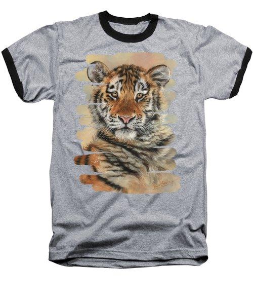 Portrait Of A Tiger Cub Baseball T-Shirt