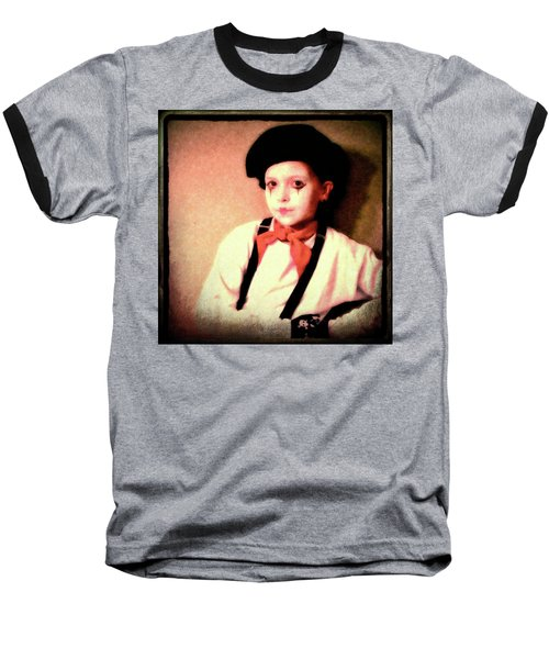 Portrait Of A Young Mime Baseball T-Shirt