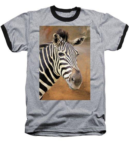Portrait Of A Zebra Baseball T-Shirt by Rosalie Scanlon