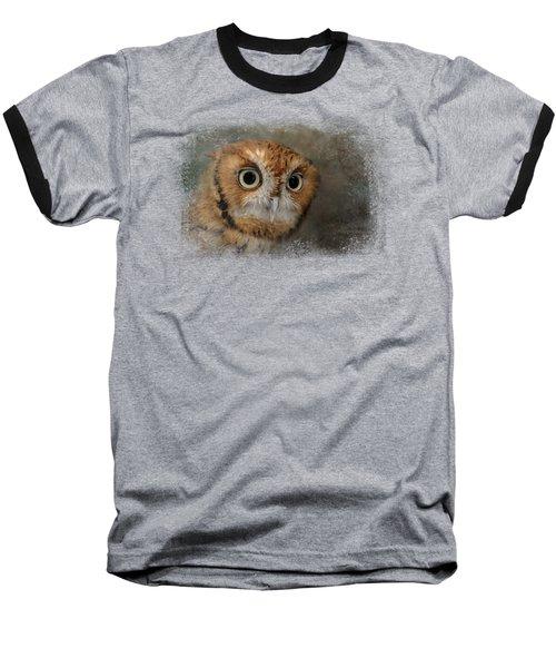 Portrait Of An Eastern Screech Owl Baseball T-Shirt