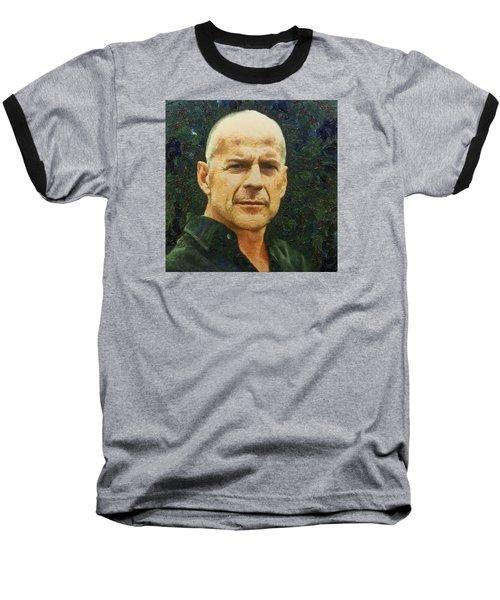 Portrait Of Bruce Willis Baseball T-Shirt