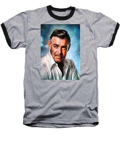 Portrait Of Clark Gable Baseball T-Shirt