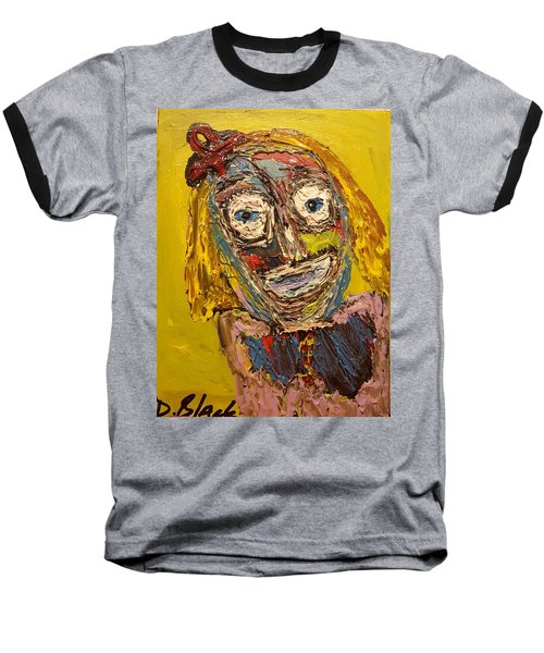 Portrait Of Finja Baseball T-Shirt by Darrell Black