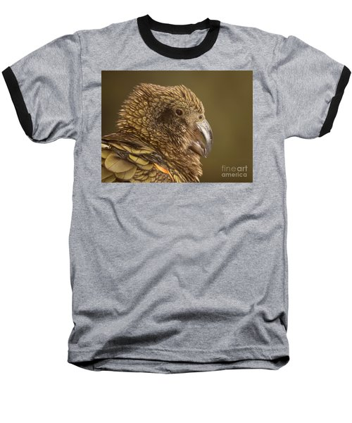 Portrait Of Kea Calling Baseball T-Shirt by Max Allen