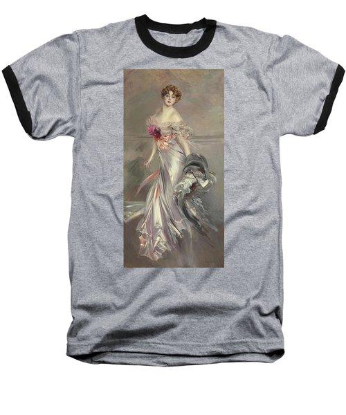 Portrait Of Marthe Regnier Baseball T-Shirt by Giovanni Boldini