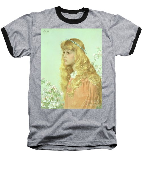 Portrait Of Miss Adele Donaldson, 1897 Baseball T-Shirt by Anthony Frederick Augustus Sandys