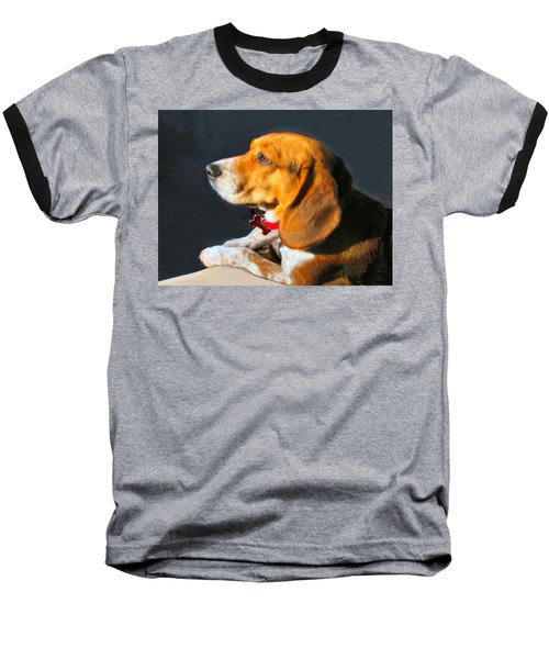 Portrait Of Pebbles - The Independent Beagle Baseball T-Shirt