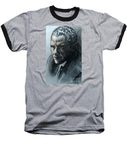 Charcoal Portrait Of President Obama Baseball T-Shirt