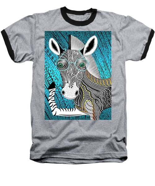 Portrait Of The Artist As A Young Zebra Baseball T-Shirt