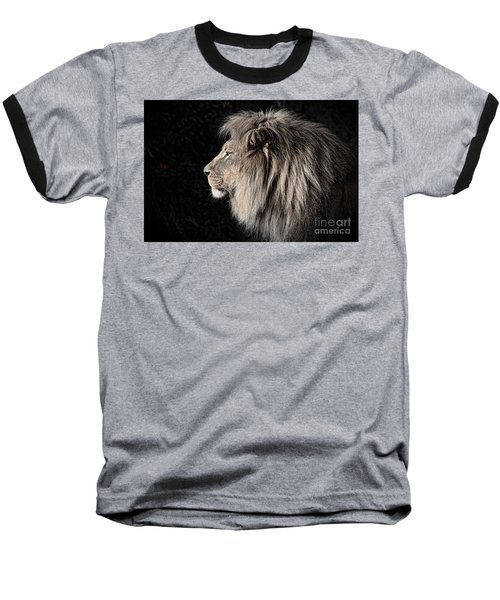 Portrait Of The King Of The Jungle II Baseball T-Shirt by Jim Fitzpatrick
