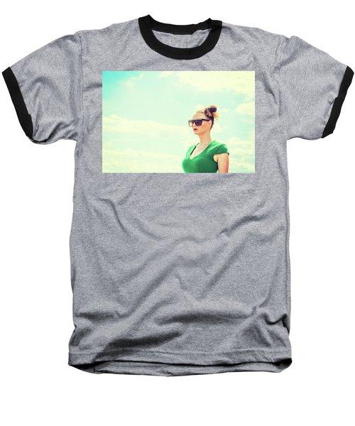 Portrait Of Young Woman Baseball T-Shirt