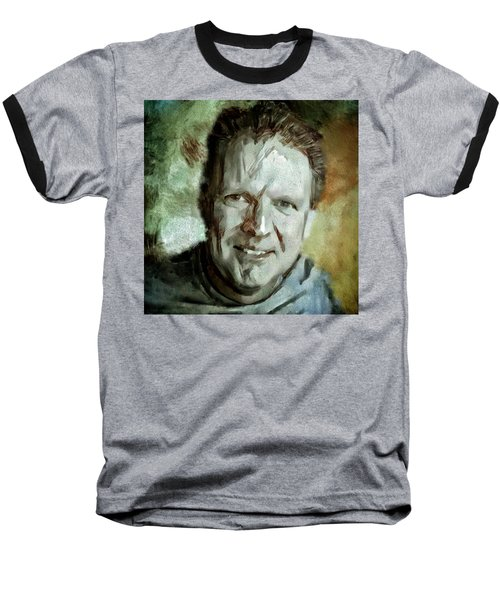 Portrait Painting Cinematographer Camera Operator Behind The Scenes Movie Tv Show Film Chicago Med Baseball T-Shirt