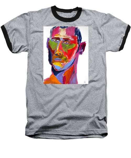 Baseball T-Shirt featuring the painting Portrait Prez by Shungaboy X