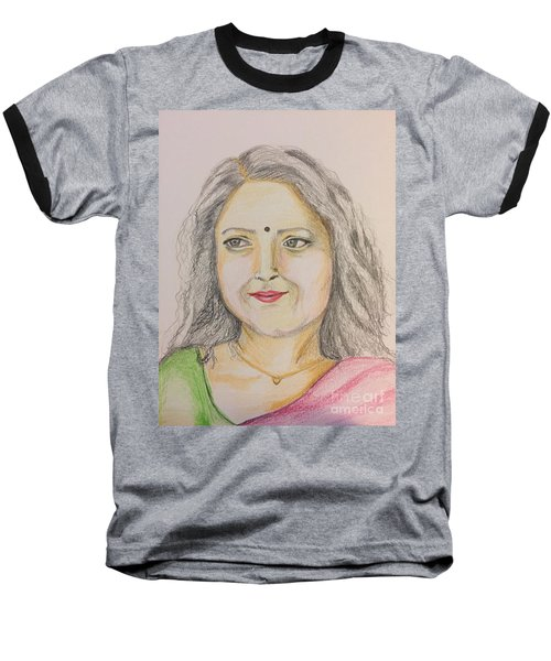 Portrait With Colorpencils 2 Baseball T-Shirt