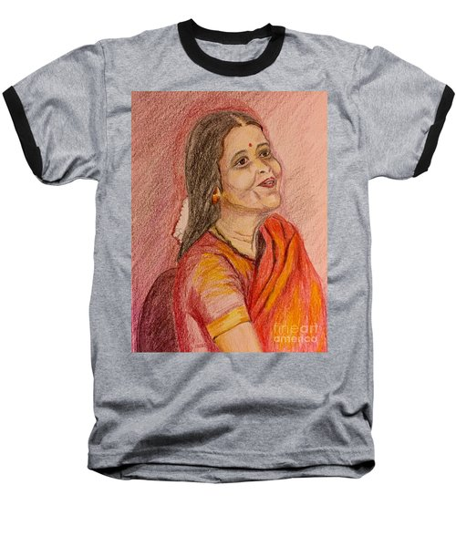 Portrait With Colorpencils Baseball T-Shirt