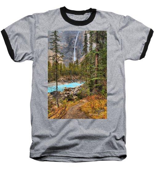 Baseball T-Shirt featuring the photograph Portrait Of Takakkaw Falls by Adam Jewell