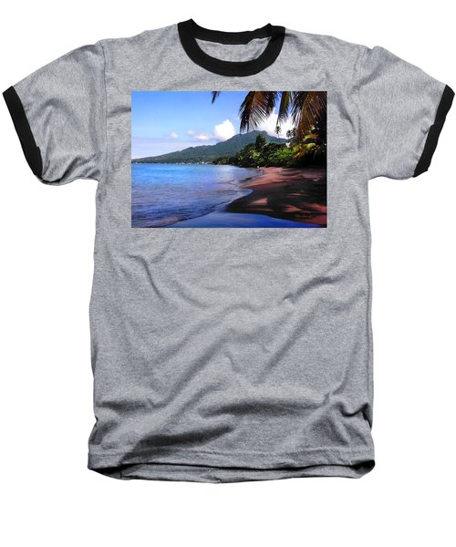 Portsmouth Shore On Dominica Filtered Baseball T-Shirt