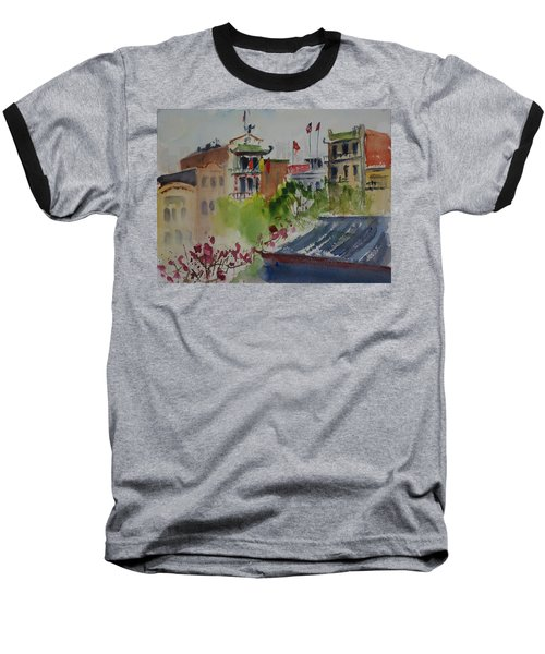 Portsmouth Square1 Baseball T-Shirt by Tom Simmons