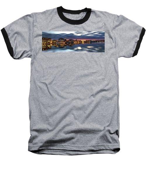 Portsmouth Waterfront Panorama Baseball T-Shirt