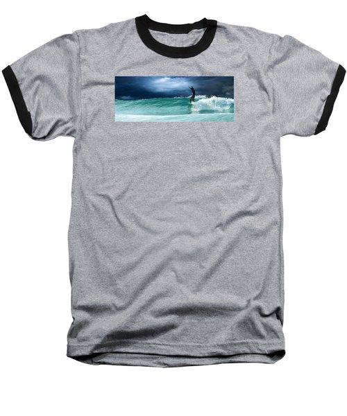 Poseiden's Prayer Baseball T-Shirt by William Love