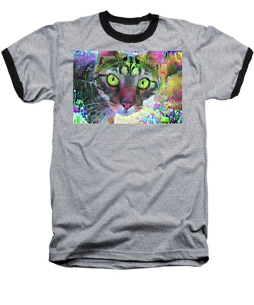 Posie The Tabby Cat Baseball T-Shirt