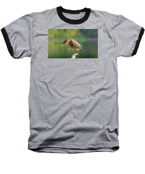 Baseball T-Shirt featuring the photograph Posing Heron by Jerry Cahill