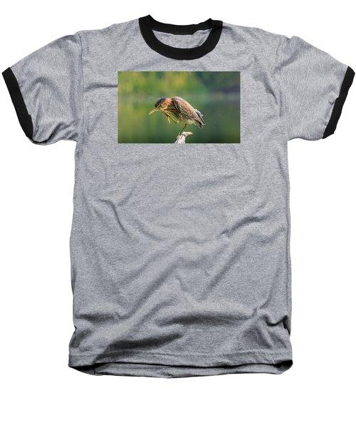 Posing Heron Baseball T-Shirt