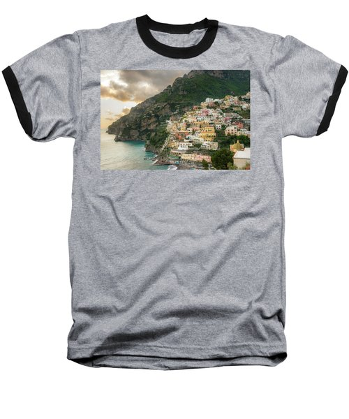 Positano Sunset Baseball T-Shirt