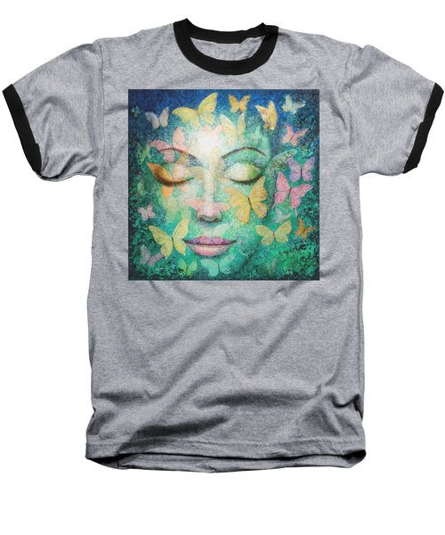 Baseball T-Shirt featuring the painting Possibilities Meditation by Sue Halstenberg