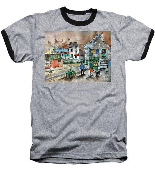 Post Office Mural In Ennistymon Clare Baseball T-Shirt