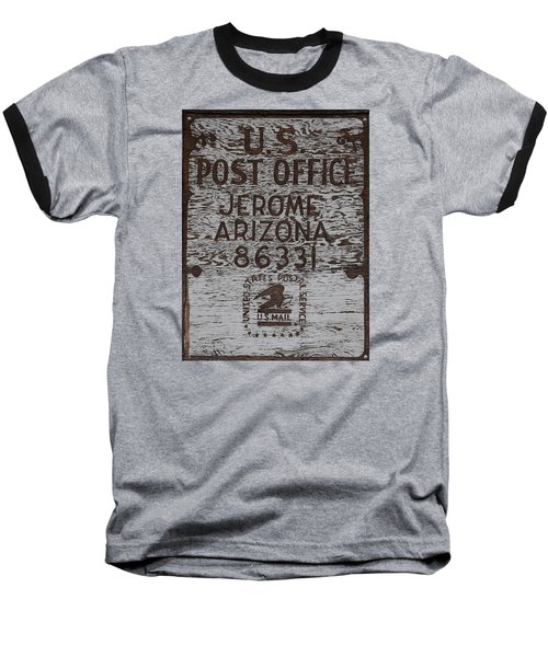 Baseball T-Shirt featuring the photograph Post Office Jerome - Arizona by Dany Lison