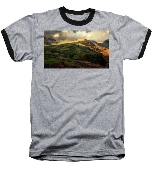 Postcard From Scotland Baseball T-Shirt by Jaroslaw Blaminsky