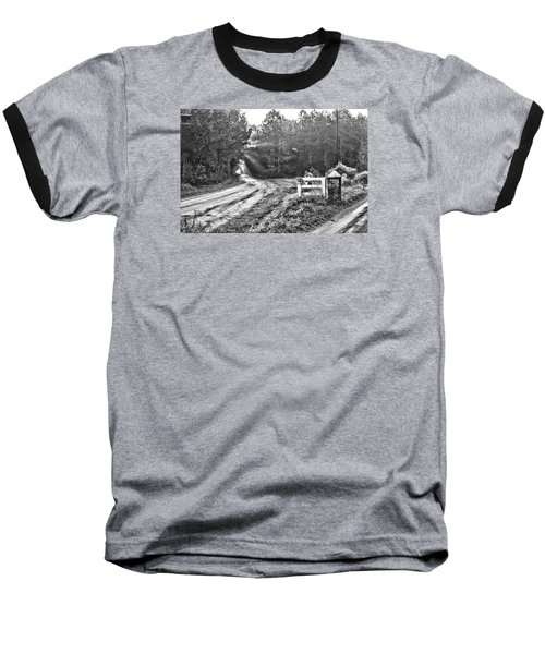 Posted On Witsell Rd Baseball T-Shirt by Scott Hansen