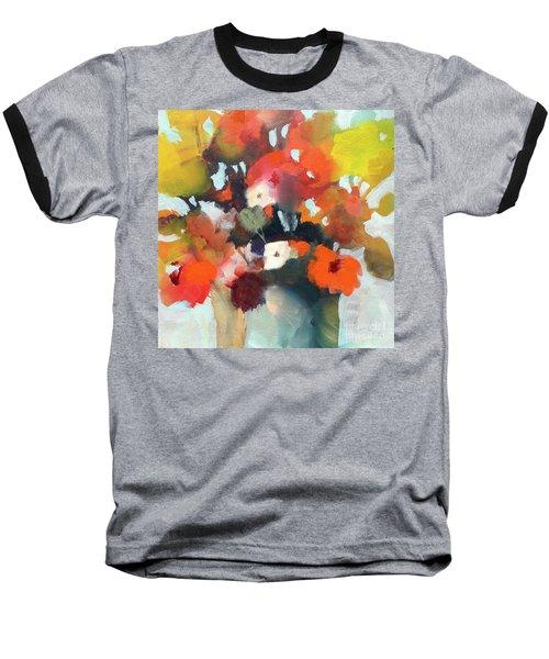 Pot Of Flowers Baseball T-Shirt