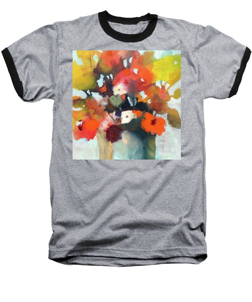 Pot Of Flowers Baseball T-Shirt