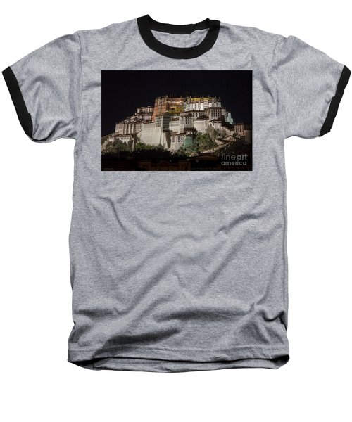 Potala Palace At Night Baseball T-Shirt