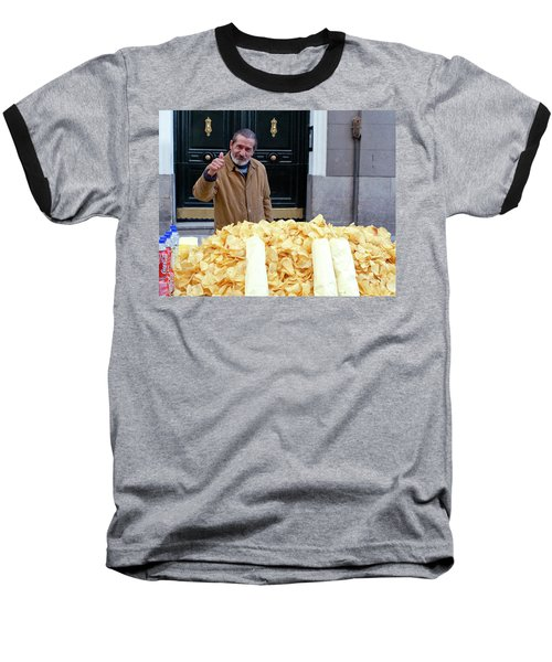 Potato Chip Man Baseball T-Shirt