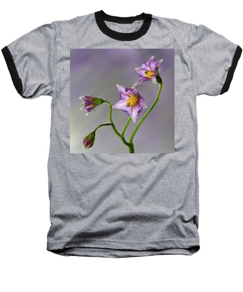Potato Flowers Baseball T-Shirt