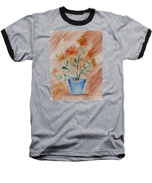 Potted Plant - A Watercolor Baseball T-Shirt