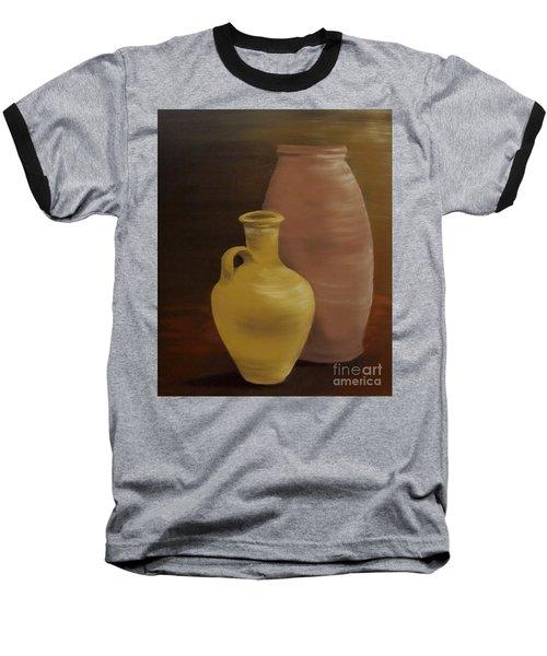 Baseball T-Shirt featuring the painting Pottery by Annemeet Hasidi- van der Leij