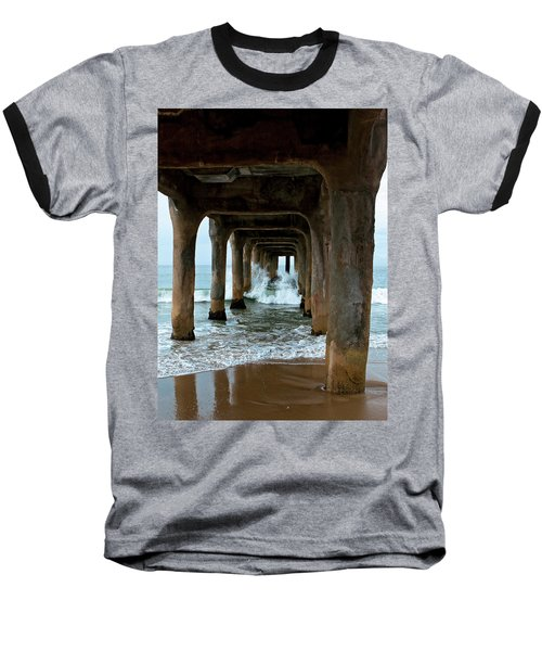 Pounded Pier Baseball T-Shirt