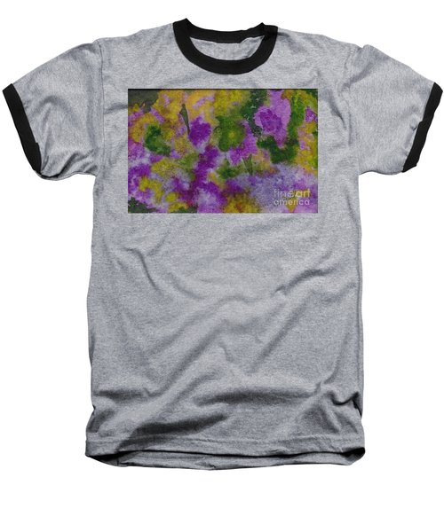 Baseball T-Shirt featuring the painting Pouring Flowers by Vicki  Housel