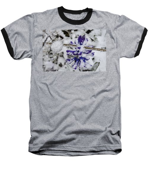 Baseball T-Shirt featuring the photograph Powder-covered Hyacinth by Deborah Smolinske