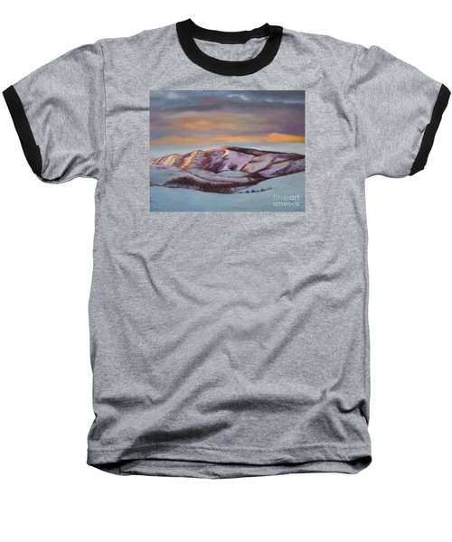 Baseball T-Shirt featuring the painting Powder Mountain by Marlene Book