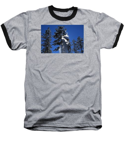 Baseball T-Shirt featuring the photograph Powderfall by Gary Kaylor