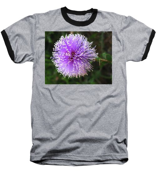 Baseball T-Shirt featuring the photograph Purple Orb by Mary Ellen Frazee